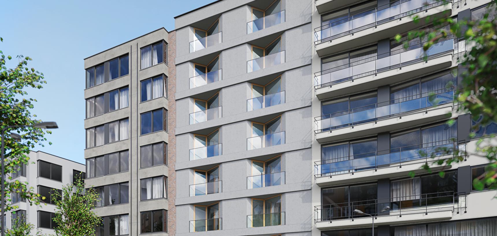 Prachtig penthouse met 2 slpks en 50 m² terras !