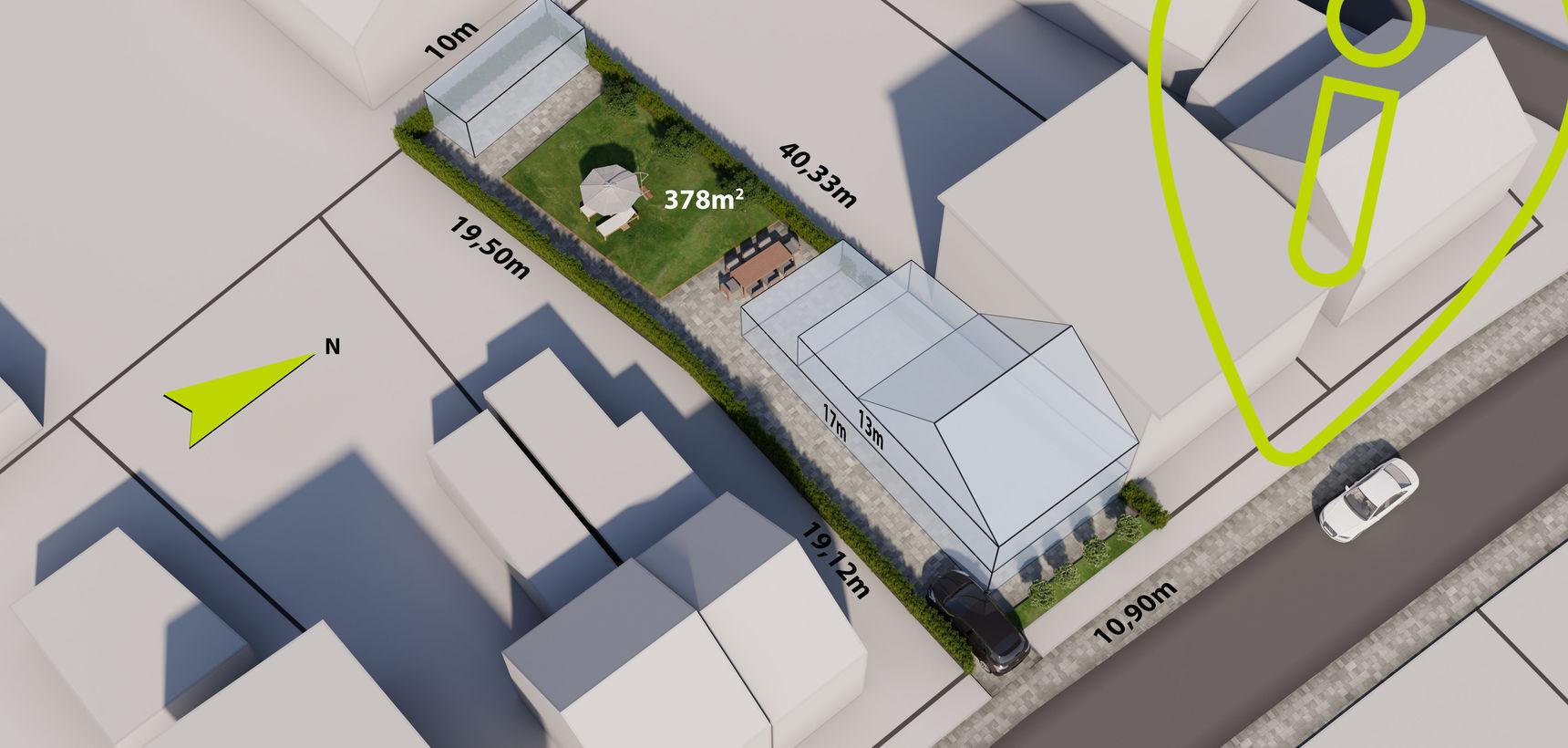Centraal gelegen bouwgrond van 378 m² voor HOB in Balen !