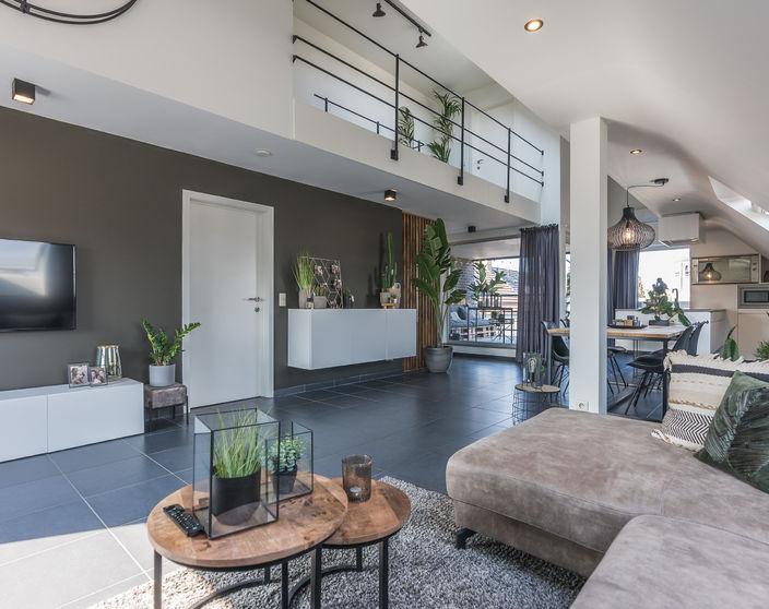 Stijlvol duplex appartement met 3 slpks !